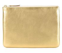 Portemonnaie mit Metallic-Look
