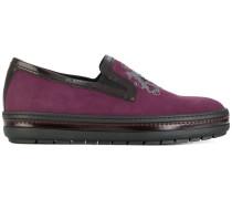 Slip-On-Sneakers aus Kalbsleder