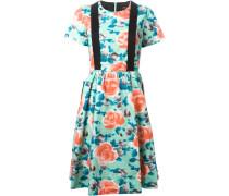 Kleid mit Hosenträgerdetail
