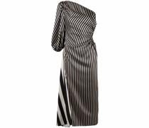 Asymmetrisches Kleid im Streifenmix