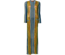 multi-stripe floor length cardigan