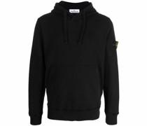 logo-patch zip-up hoodie