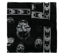 Seidenschal mit Totenkopf-Print