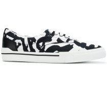 brushstroke print sneakers