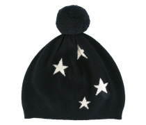 - Intarsien-Mütze mit Bommel - women