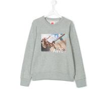 teen skate print sweatshirt - kids - Baumwolle