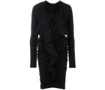 ruched frill dress
