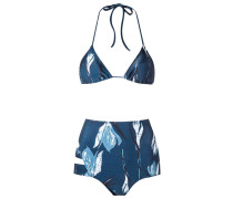 printed triangle bikini set