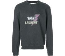 Grey Lightning Bolt Logo sweatshirt