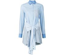 Hemdkleid mit geknoteter Taille - women