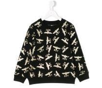 Sweatshirt mit Metallic-Logos