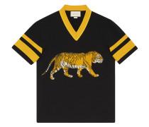 T-Shirt mit Tigerstickerei - men - Baumwolle - M