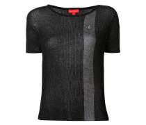 Semi-transparentes T-Shirt mit kontrastierenden Streifen