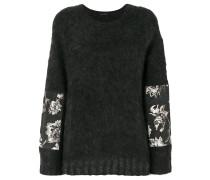 jacquard panel jumper