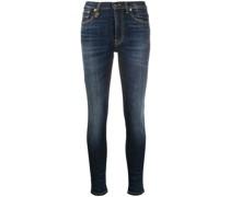 Skinny-Jeans mit hohem Bund