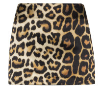 'Nara' Minirock mit Leoparden-Print