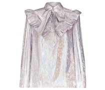 'Carol' Bluse in Metallic-Optik