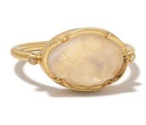 14kt 'Orbit' Gelbgoldring mit Diamanten
