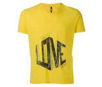 """- T-Shirt mit """"Love""""-Slogan - men - Baumwolle - XL"""