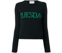 "Pullover mit ""Tuesday""-Motiv"