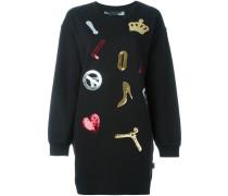 Sweatshirtkleid mit Patches