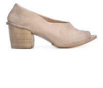 Peeptoe-Pumps mit Blockabsatz