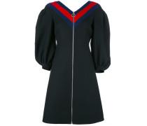 Krepp-Kleid mit Reißverschluss
