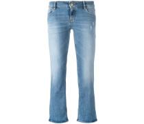 Ausgestellte Cropped-Jeans - women