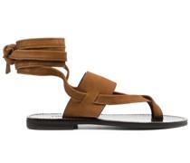 Flache Sandalen mit Zehensteg