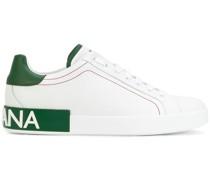 logo heel sneakers