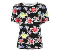 roses pattern Shrunken T-shirt