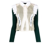Deconstructed-Pullover mit Hemd-Overlay