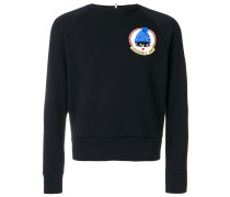 chest patch sweater