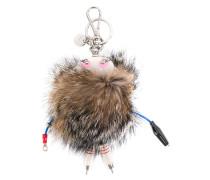 Schlüsselanhänger mit Fuchspelzbesatz