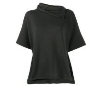 Pullover mit gewickeltem Kragen