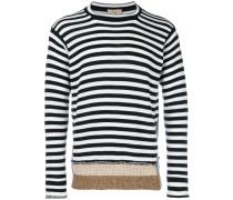 striped panelled jumper