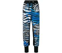 Jogginghose mit Zebra-Print