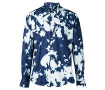 Gestreiftes Hemd mit Batik-Effekt
