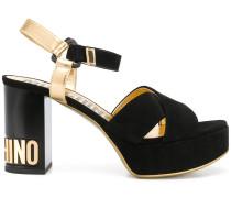 Sandalen mit Logo-Absatz