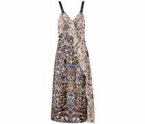 Gerüschtes Kleid mit Blumen-Print