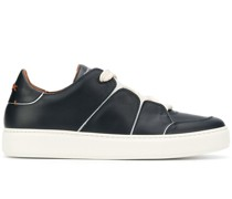 stitched-panel low-top trainers