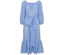 laure cornflower daisy eyelet dress