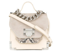 Gabrielle small snakeskin print tote