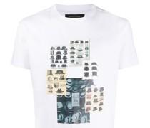 T-Shirt mit Hüte-Print