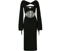 Jersey-Kleid mit Korsage