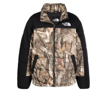 Gefütterte Jacke mit Camouflage-Print