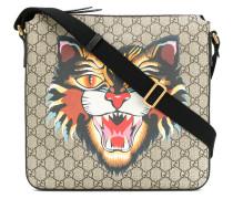 Angry Cat print GG Supreme flat messenger bag