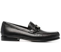 snakeskin-effect slip-on loafers