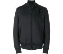 classic ribbed neck bomber jacket