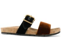 velvet slider sandals